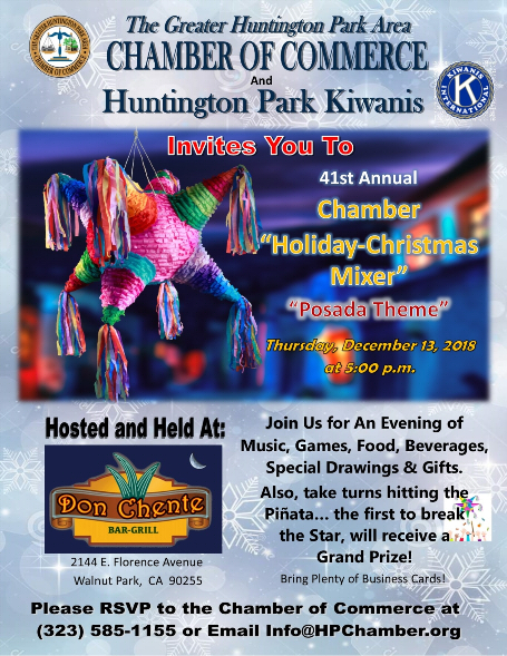 The greater huntington park area chamber of commerce for Kiwanis certificate templates